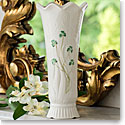 "Belleek Woodland Shamrock 10"" Vase"