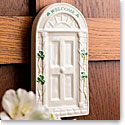 Belleek Shamrock Welcome Door Wall Plaque