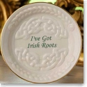 Belleek China I've Got Irish Roots Celtic Dish