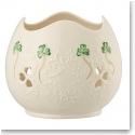 Belleek Shamrock Lace Pierced Votive