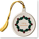 Belleek 2018 Merry Christmas Ornament