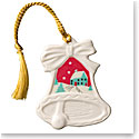Belleek Christmas Scene Bell Ornament