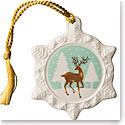 Belleek 2018 Reindeer Snowflake Ornament