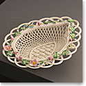 Belleek Masterpiece Collection Wild Rose Leaf Basket Limited Edition
