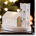 Belleek Irish Village Church with LED Light