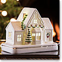 Belleek Irish Village Victorian Gatehouse with LED Light