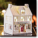 Belleek Irish Village Toy Store with LED Light