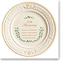 Belleek Celebration 50th Anniversary Plate