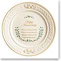 Belleek Celebration Happy Anniversary Plate