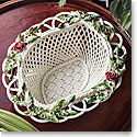 Belleek Living Winter Flowers Basket