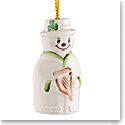Belleek China Snowman Bell Ornament