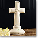 Belleek China Love Knot Cross Sculpture, Limited Edition