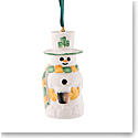 Belleek Paddy Snowman Bell Ornament