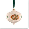 Belleek 2021 Triskelion Celtic Bauble Ornament