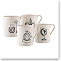 Belleek Etch 4 Mugs Set