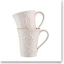 Belleek Trinity Knot Mug, Pair