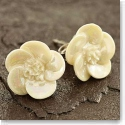 Belleek China Wild Rose Pierced Earrings