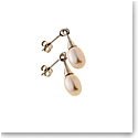 Belleek Living Jewelry Oyster Earrings, Pair