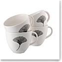 Belleek Living Ginkgo Leaf Mug Set of 4