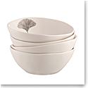 Belleek Living Ginkgo Leaf Cereal Bowl Set of 4