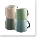 Belleek Living Air and Water 4 Piece Mug Set