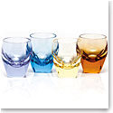 Moser Crystal Bar Shot Glass 1.5 Oz. Set of 4 Multicolor