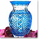 "Waterford Crystal, Jeff Leatham Fleurology Molly Light Blue Cased 12"" Bouquet Crystal Vase"
