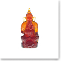 Daum Ganesha in Dark Amber Sculpture