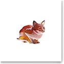 Daum Amber Cat Sculpture