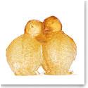Daum Yellow Ducklings Sculpture