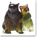 Daum Bear and Cub Sculpture