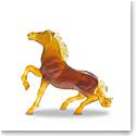Daum Brown Wild Horse by Jean-Francois Leroy Sculpture
