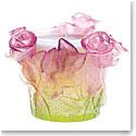 Daum Rose Candleholder
