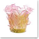 Daum Roses Candleholder in Pink