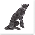 Daum Black Cheetah by Jean-Francois Leroy, Limited Edition Sculpture
