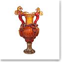 Daum Stanislas Urn Vase in Amber, Limited Edition
