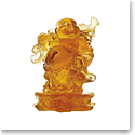 Daum Standing Buddha in Amber Sculpture