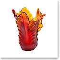 Daum Magnum Tulip Vase in Amber, Limited Edition
