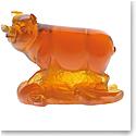 Daum Chinese Horoscope Pig in Amber