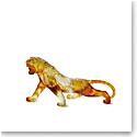 Daum Bengal Tiger in Amber Sculpture