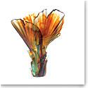 Daum Large Palm Tree Vase by Emilio Robba
