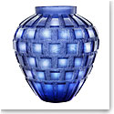 Daum Blue Rhythms Vase