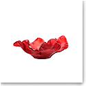 Daum Large Tulip Bowl in Red