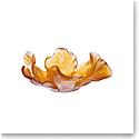 Daum Large Tulip Bowl in Amber