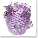 Daum Arum Small Crystal Vase in Ultraviolet