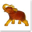 Daum Amber Elephant Sculpture
