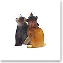 Daum Kittens Sculpture