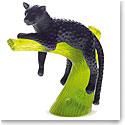 Daum Black Panther on Green Tree Sculpture
