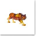 Daum Amber Tiger Sculpture