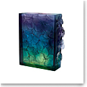 Daum Orchid Vase in Blue, Green, and Purple